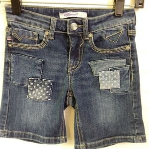 VIGOSS | Girls Denim Patchwork Shorts Size 8